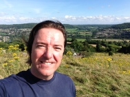 Walking up Solsbury Hill where I get much inspiration