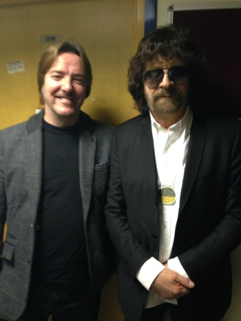 With Jeff Lynne at the Birmingham Conservatoire.