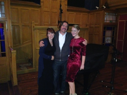 Recording session with Camilla Kerslake and my co-songwriting partner Cecilia Le Poer Power. Acapela Studio in South Wales.