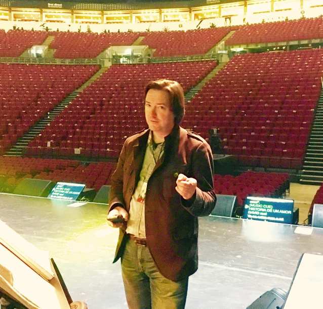 Conducting for Il Divo in Leeds May 2016 Sound-Check
